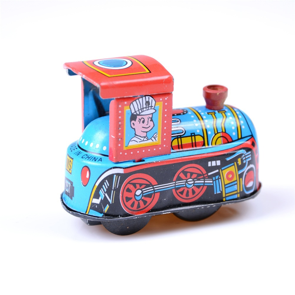 1 pièces Train à vapeur réminiscence enfants Vintage liquidation étain jouet horloge printemps Locomotive classique jouet pour bébé enfants enfants