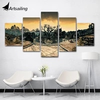 artsailing hd 5 panels modular game v skyrim poster wall art for wall pictures living room canvas painting artwork