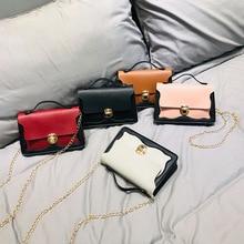 Fashion Brand Shoulder Bag Women 2019 Mini Chain Lock Handbag Female Small Leather Messenger Bag Travel Crossbody Pack Lady Girl