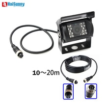 HaiSunny 4 Pin Bus Trailer CCD 18 LED IR Night Vision Car Rear View Reverse Camera Bus Truck 9-26V