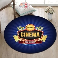 Tapis de salon pour salle de cinema   Classique  tapis de sol rond  tapis rampant  decoration de maison  tapis de Yoga