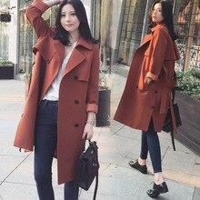 Le nouveau printemps 2020 han édition robe double boutonnage manteau longue cultiver sa moralité dans le trench des femmes
