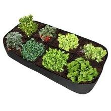 품질 패브릭 정원 식물 침대, 8 홀 직사각형 심기 컨테이너 심기 가방 화분 화분, 꽃, 야채 계획