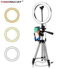16/20/26CM photographie LED à intensité variable Selfie anneau lumière Youtube vidéo en direct 5500k Photo Studio lumière avec support pour téléphone prise USB