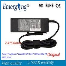 Orijinal 19.5 V 4.62A 90 W ac laptop adaptör şarj cihazı HP ENVY 14-2090ca Akıllı Pavilion G7 2226NR TPC LA57 709566 002 PA 1900
