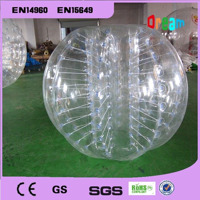 Buena calidad 1,5 m TPU inflable traje de burbuja para fútbol loco bola Bola de hámster para humanos del Zorb del cuerpo bola fútbol burbuja en venta
