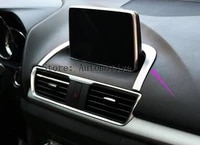 for mazda 3 axela bm 2014 2015 2016 chrome center dashboard navi navigation panel cover trim bezel garnish surround car styling