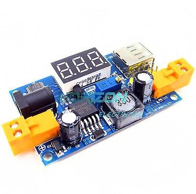 Convertidor Buck DC 1,25-37 V módulo de potencia reductor + voltímetro LED LM2596