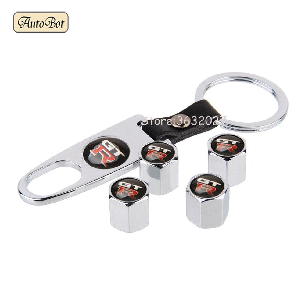 Автомобильный Стайлинг колпачки клапанов для колес, брелок для Nissan Логотип GTR 350z Nv200 Versa Np300 X-Trail Juke Nismo Qashqai Almera