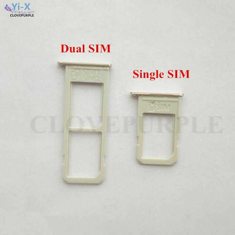 10 unids/lote único/Dual SIM bandeja de tarjetas Micro SIM Soporte para tarjeta SIM para Samsung Galaxy S6 Edge + S6 Edge Plus G928