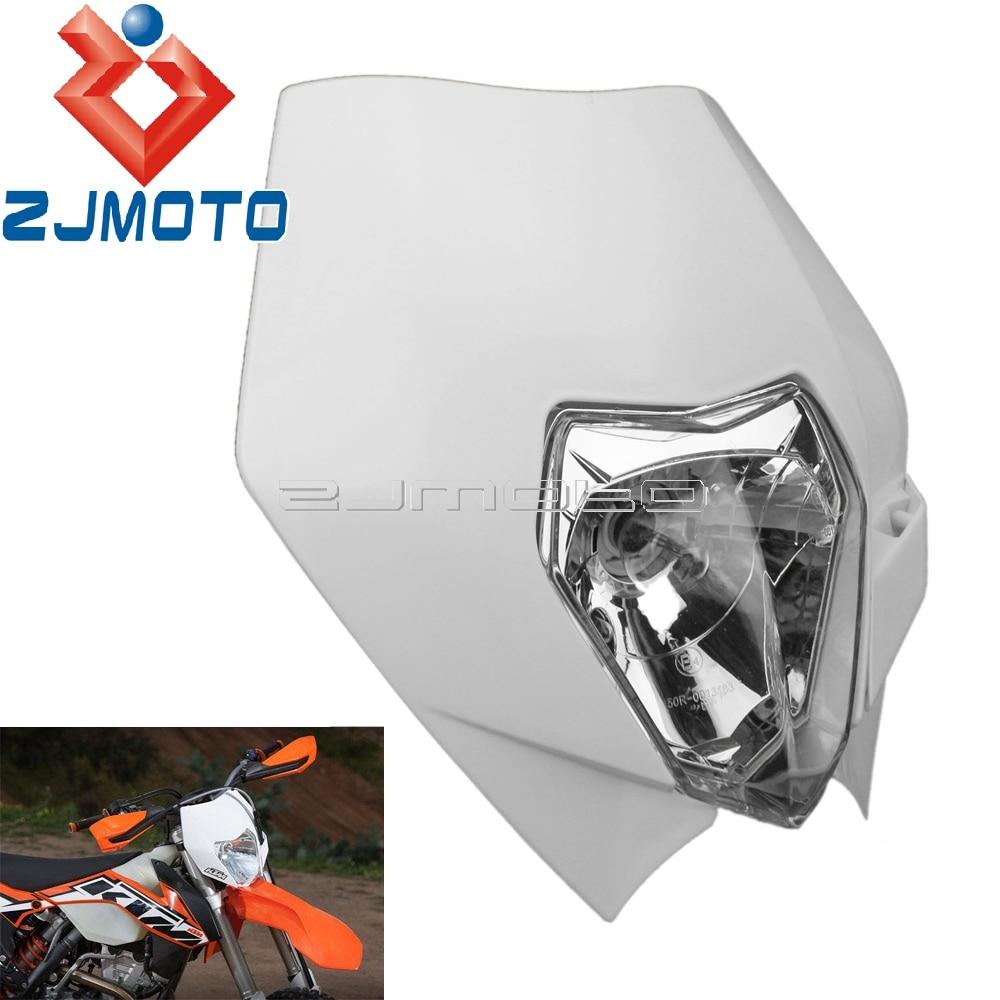 Masque de phare Supermoto   Carpette de phare de moto pour KTM Yamaha Suzuki SX EXC XCF SXF DRZ DR XT WR YZF TW 250 300 400