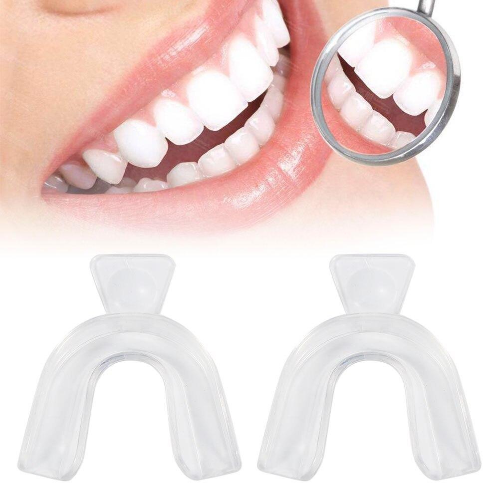2 uds. De alta calidad, protector transparente para la boca de las encías, bandejas para blanquear los dientes, equipo Dental