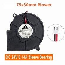 Lot de 2 pièces Gdstime 75mm 30MM 24V cc ventilateur sans balais ventilateur de refroidissement