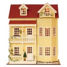 XXXG DIY, a large wooden hut fight house Handmade model villa three years birthday fairy tale
