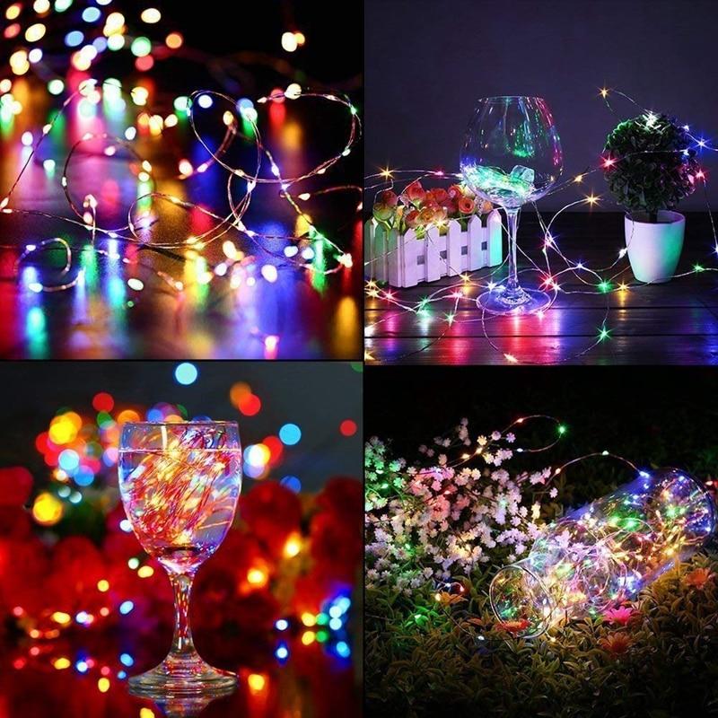 Fairy լույսերը մարտկոցով աշխատող 100 LED - Տոնական լուսավորություն - Լուսանկար 6