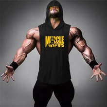 Nieuwe Merk Zomer Fitness Stringer Hoodies Spier Shirt Bodybuilding Kleding Gym Tank Top Heren Sporting Mouwloze Shirts