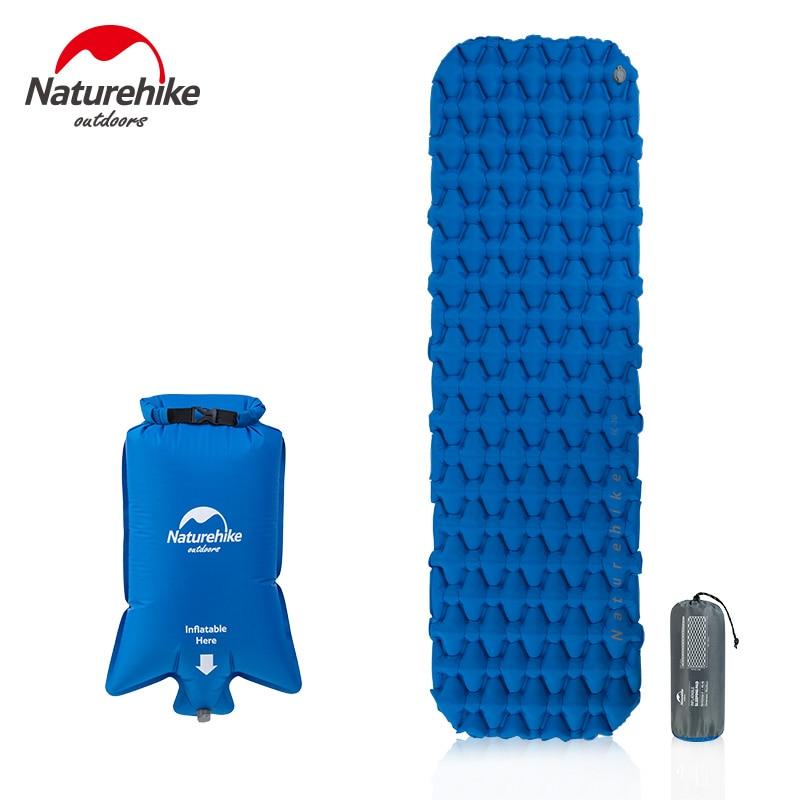 NatureHike Nylon TPU Inflatable Sleeping Pad With Air Filling Bag Moistureproof  Portable Inflatable Air Mattress Camping Mat