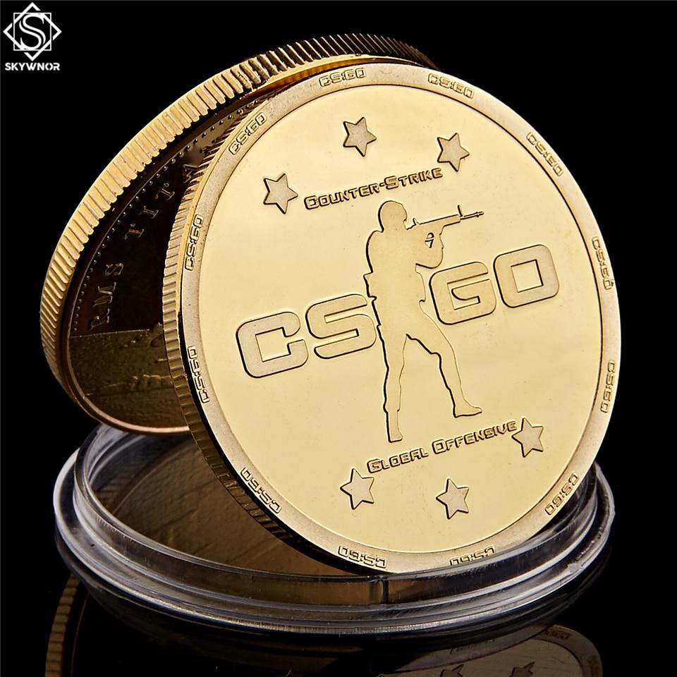 Colección de monedas de juegos conmemorativos de oro con diseño de Counter Strike CS GO