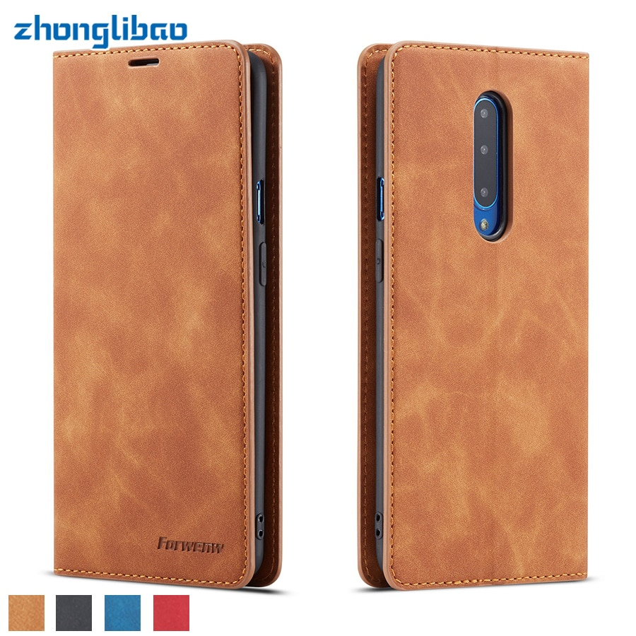 Funda magnética para OnePlus 7 Pro 7 Global 128gb soporte de tarjeta billetera de cuero de lujo funda de libro One Plus 7 Pro 7 12gb