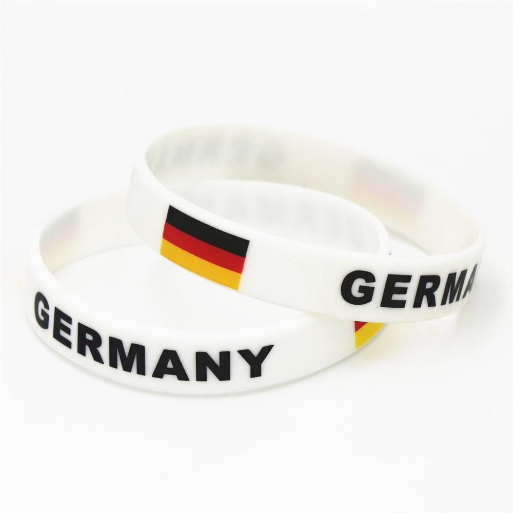 1 PC allemagne drapeau Silicone Bracelet Football équipe de Football Fans Sport élastique en caoutchouc Bracelet bracelets 2018 brassard SH226