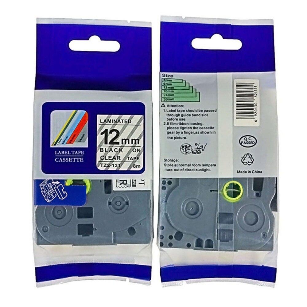 Barato compatible TZe-131 TZ-131 tze131 tze 131 negro claro tze etiqueta cintas para táctil P etiqueta impresora