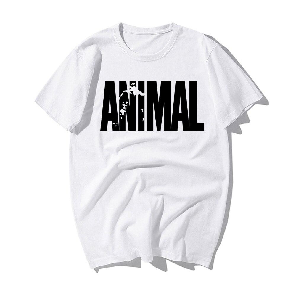 Camiseta de Chándal estampado Animal, tendencia de moda en 2019, camisetas de Fitness de algodón para Crossfit, ropa de culturismo para hombre