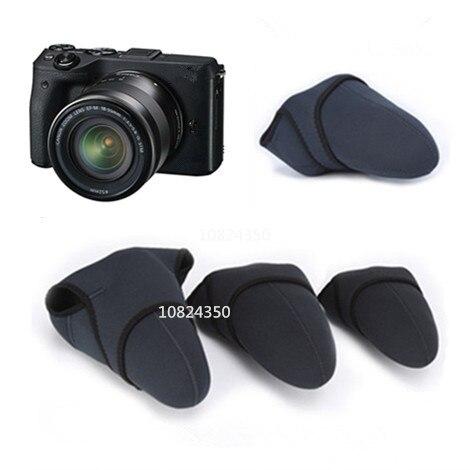 Tamaño M DSLR impermeable de neopreno Cámara bolsa blanda de neopreno Micro individual para Cannon 500D, 550D, 600D, 650D, 700D, 1000D para Nikon D3100