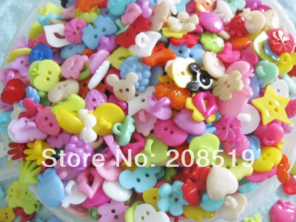 NBNLEW, 100 Uds., botones de plástico sueltos, variados accesorios de costura DIY, decoración de ropa de aprendizaje para niños