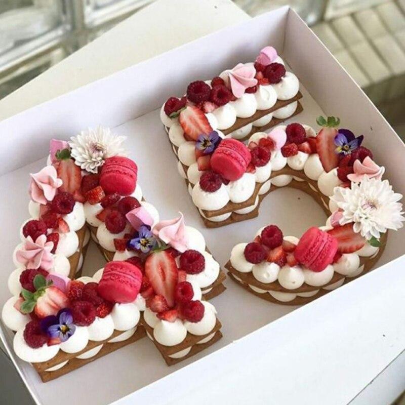 Silicone numérique 0-9 gâteau moule gâteau numéros forme gâteau moule décoration outil pour mariage anniversaire anniversaire