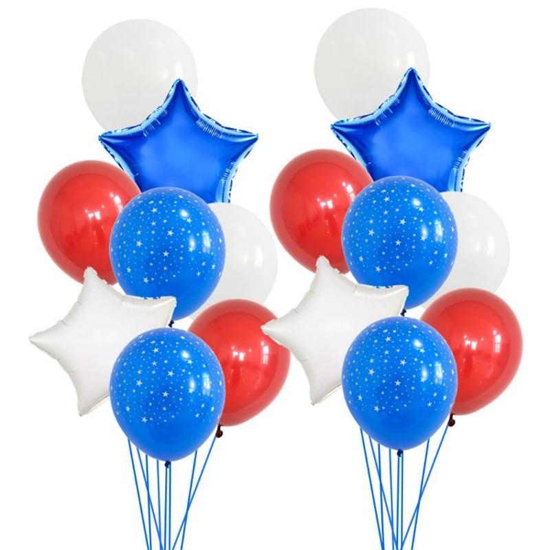 Globos de aluminio con diseño de estrellas y rayas del Día de la Independencia Americana, decoración para el día de la Independencia de Estados Unidos, suministros para fiestas de cumpleaños