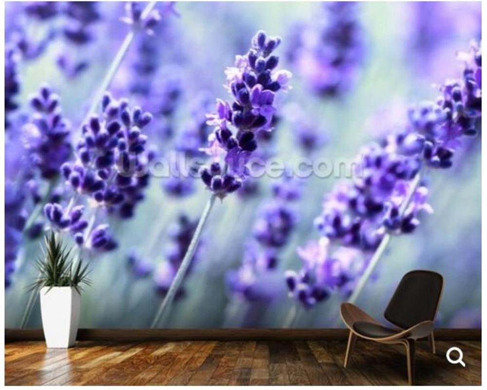 Custom floral wallpaper,Lavender frescoes for living room sofa bedroom background wall decoration papel de parede