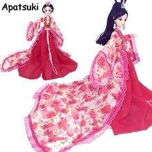 Cosplay robe pour poupée Barbie traditionnelle chinoise ancienne beauté Costume vêtements robe de soirée robes de soirée pour 1/6 BJD poupées