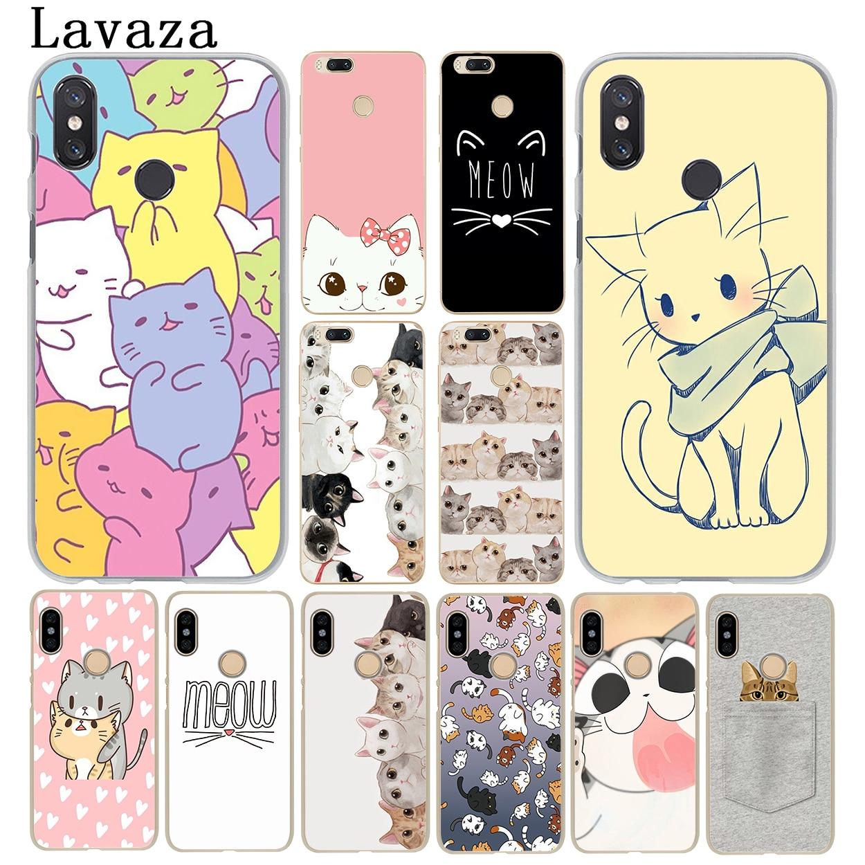 Lavaza lindo jengibre PIZZA bowknot gato kawaii funda de teléfono para Xiaomi mi 9 9T A3 Pro CC9 CC9E 8 SE A2 Lite A1 pocophone f1 6X MAX 3