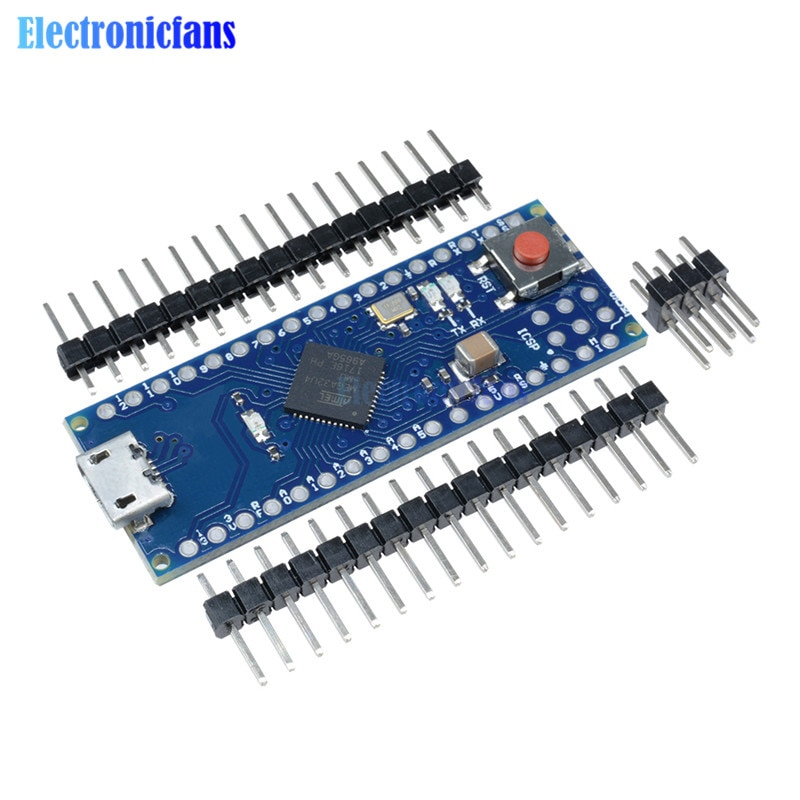 Pro Micro ATmega32U4 5 в 16 МГц модуль платы, замена Pro Mini ATmega328 4 канала микроконтроллер с штырьками для Arduino