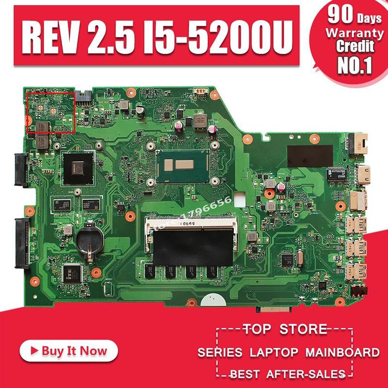 Original Para ASUS X751L K751L K751LN X751LK X751LD REV 2.5 DDR3 HM86 I5-5200U notebook laptop motherboard teste 100%