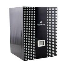 Cohiba luxo 4 gavetas alto acabamento brilhante de madeira classcial behike charuto gabinete humidor caixa de armazenamento com higrômetro umidificador