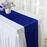 wholesales 20pcs royal blue stain table runner for wedding party table decoration party supply 30x275cm 12x108 str 0033