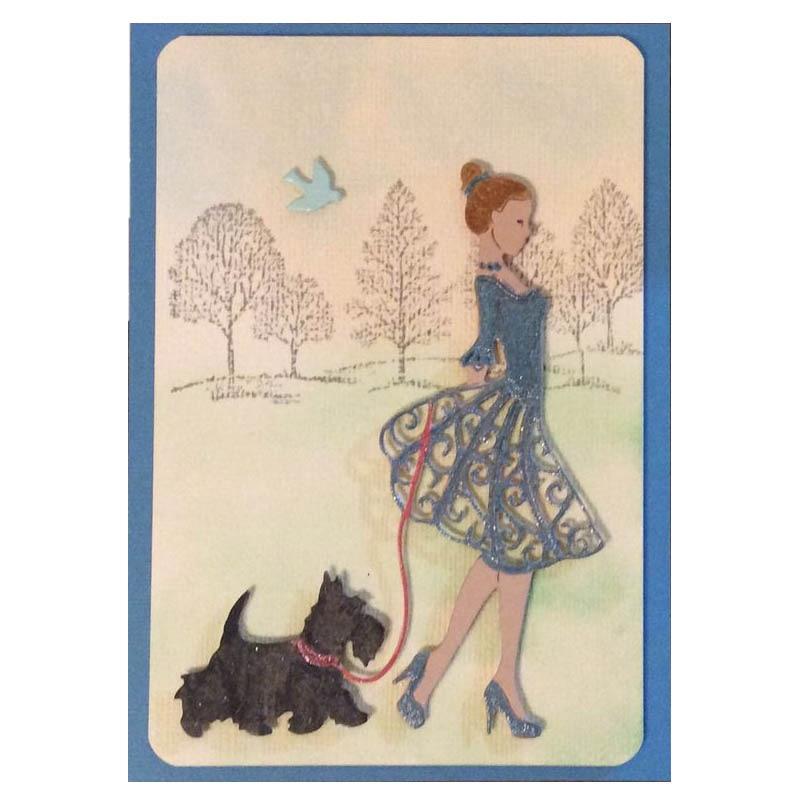 Matrices de découpe en acier au carbone   Jolies filles pour le bricolage, timbres à découper créatifs Scrapbook, carte de vœux en papier pour gaufrage