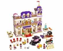 1585 pcs Girls Friends Heartlake Grand Hotel Building Blocks Kid Model toy Bricks Compatible with L