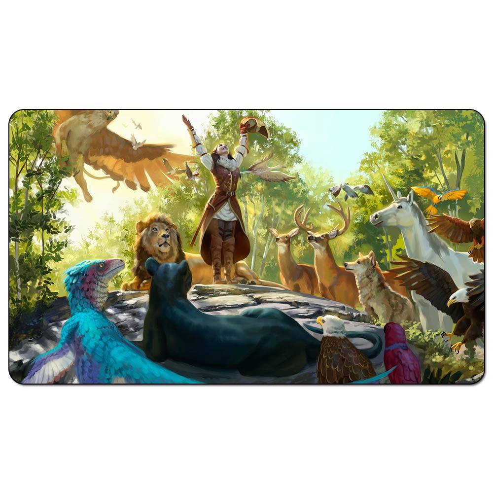 """Juego de cartas de comercio mágico, tapete El Hymn DE LOS Wilds, complot Take the Crown art, tapete de 60cm x 35cm (24 """"x 14"""") tamaño"""