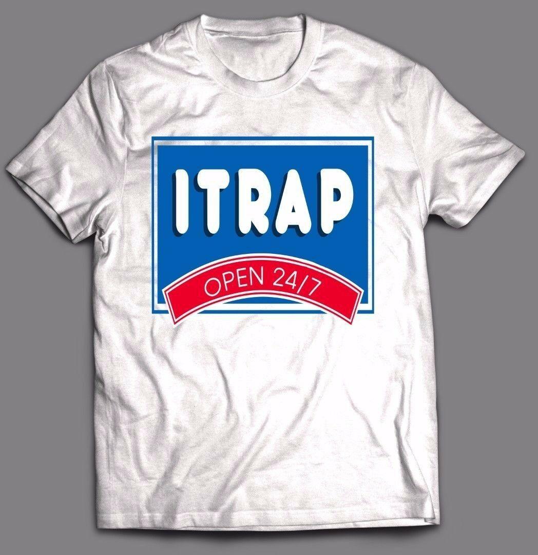 IHOP MASHUP ITRAP 21SAVAGE KODAK BLACK CUSTOM ART T-Shirt *FULL FRONT OF SHIRT* Men Short Sleeves T Shirt Top Tee Basic Tops