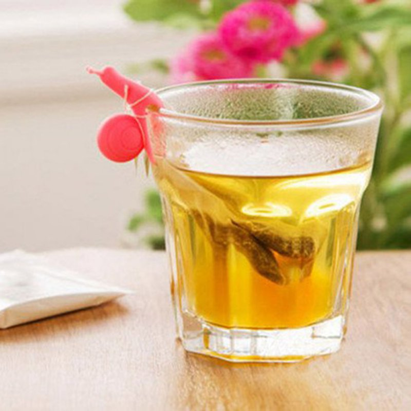 Nuevo 5 unids/set forma de caracol soporte de silicona para bolsa de té taza té herramientas colores de caramelo herramienta decorativa con lindo Diseño de caracol