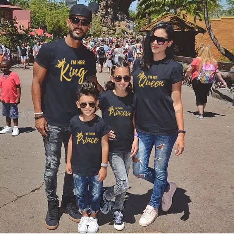 Одинаковая одежда для всей семьи, модная футболка для папы, мамы, маленькой девочки и мальчика, хлопковая одежда с буквенным принтом для мал...