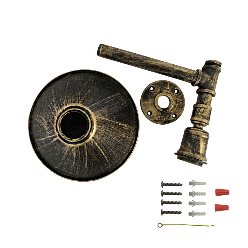 Creative iron Water Pipe wall lamp Retro industrial wind with Switch E27 Wall Light for aisle corridor balcony restaurant bar  - buy with discount