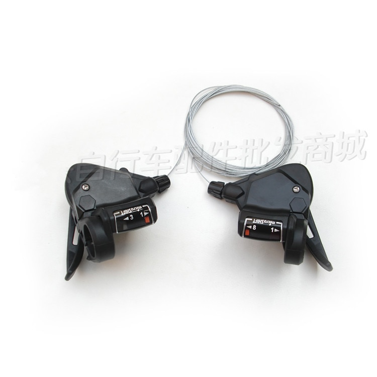 Micro 8 geschwindigkeiten fahrrad shifter hebel mtb mountainbike fahrrad TS38-8 rennrad umwerfer