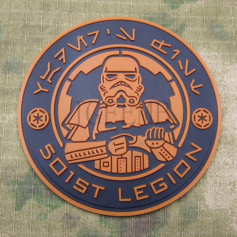 Tan 501st legión Imperial STORM TROOPER militar 3D parche de PVC PB1627