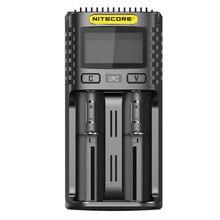 Nitecore um2 usb carregador duplo-slot qc circuitos inteligentes seguro global li-ion aa 18650 20700 26500 26650 carregador