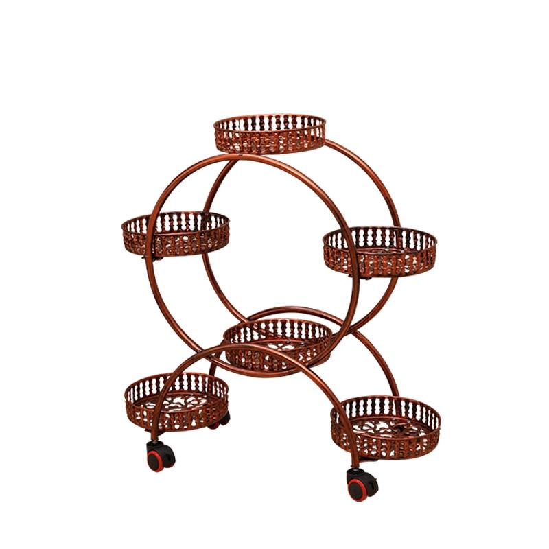 Шестислойные шкивы, европейская сборка, угловые стеллажи для гостиной, мобильные стеллажи, Железная Ткань, балкон, деревенский бонсай, wea