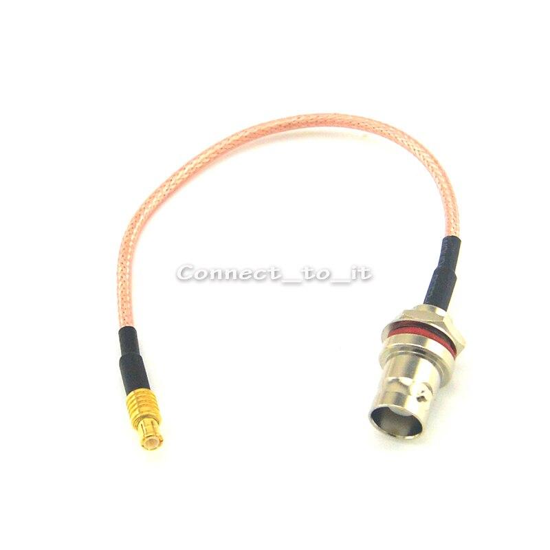 10 uds/lote cable de extensión MCX conector macho a BNC jack hembra mampara o-ring connector RG316 adaptador cable espiral coaxial