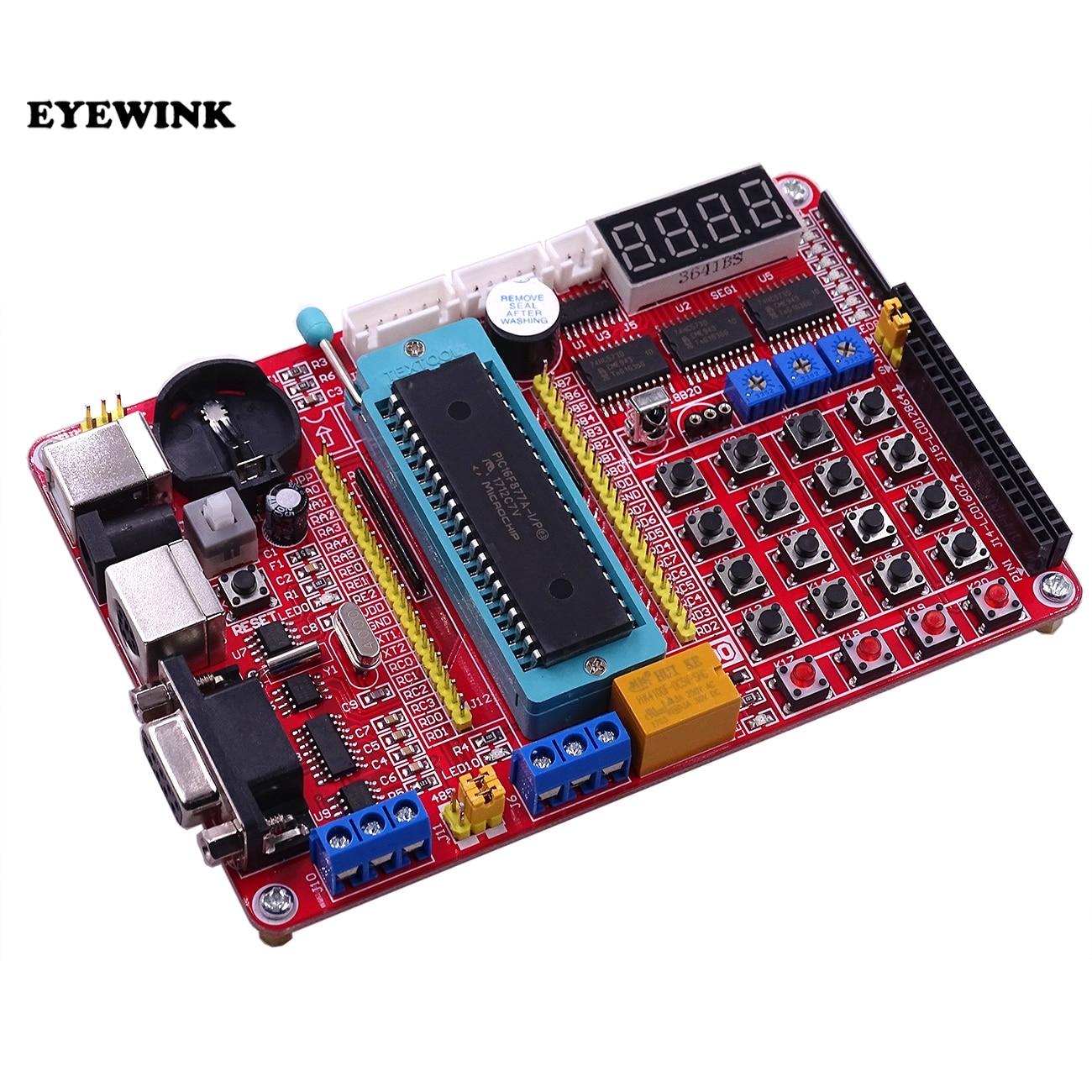 EYEWINK PIC MCU development Mini System PIC Development Board + микрочип PIC16F877A + USB кабель
